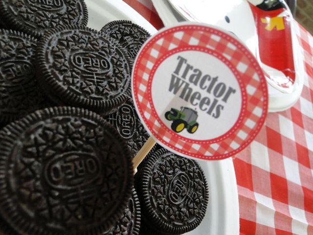 "Oreo ""tractor wheels"" at a Farm Party #farm #party"