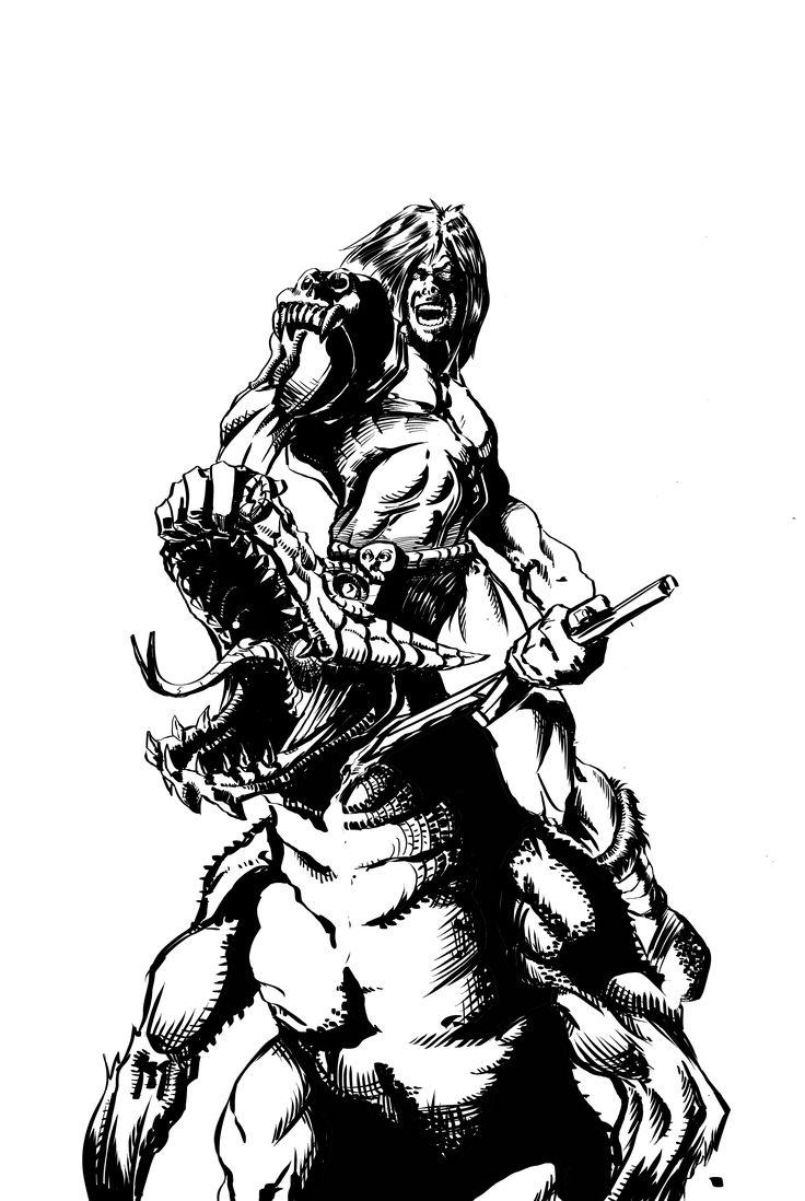 Stasera draghi ... a colori! #wacom #cintiq #sketchbook #comics #warrior #dragon