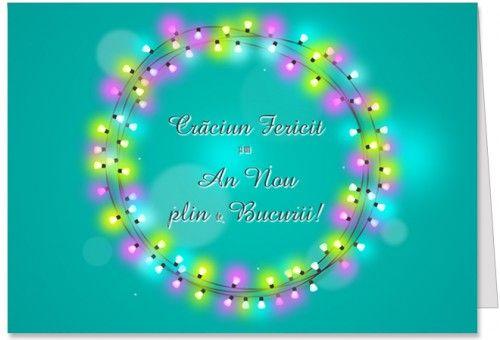 Craciun Fericit Felicitare de Craciun cu mesajul Craciun Fericit si un An Nou plin de bucurii.