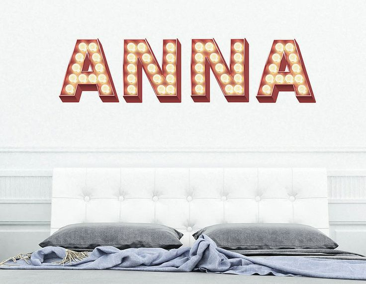 Wall Stickers 'Retro Cinema Marquee Letters' | Contemporary Wall Stickers
