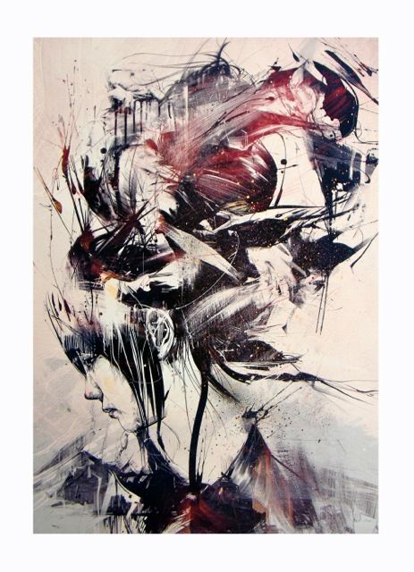 RED PROPELLER PRINTS — 'AMPHIPOD' (SOLD OUT)  by RUSS MILLS (aka) BYROGLYPHICS