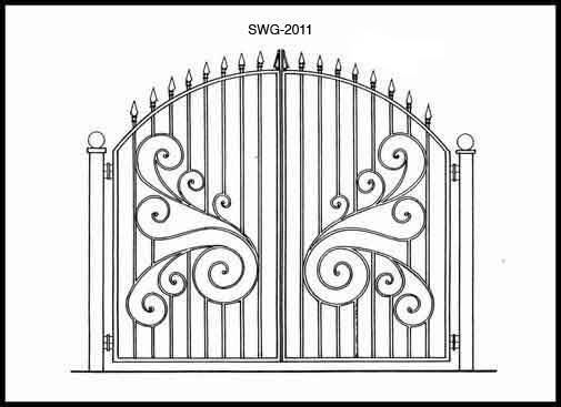 Gate Design Ideas lovely front gate home models and gate design ideas get inspired photos of gates from Iron Gate Swg2011