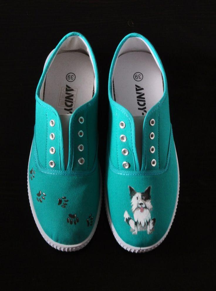 Zapatillas personalizadas con la imagen de tu mascota.