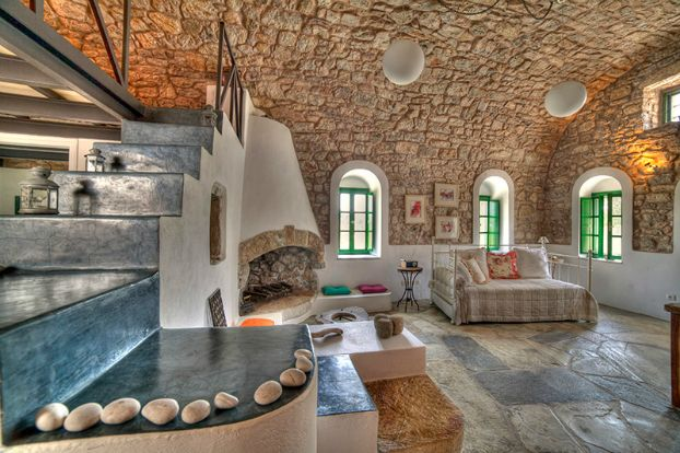 Stunning stone studio in Kythera, Greece. Wow.