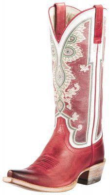Womens Ariat Alameda Boots Chili Red #10011090 via @Chris Cote Allen & Cheryl Smith Boots-SR