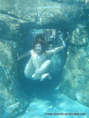 Cool! The Natural Style Pool And Spa Include An Underwater Cave, Water  Slide,