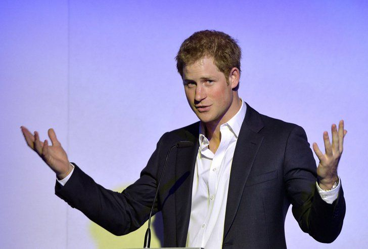 Pin for Later: Prince Harry Is Fully Clothed, but For a Really Good Cause