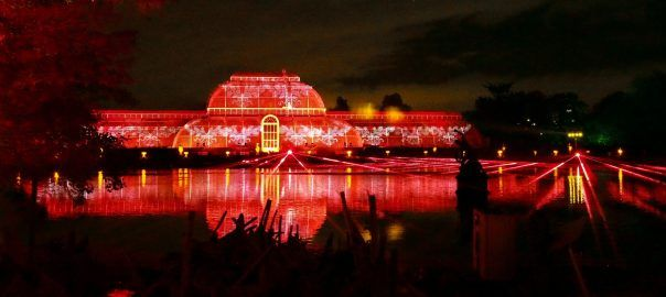 The iconic Palm House at the Royal Botanic Gardens, Kew, pictured during Christmas at Kew 2016.