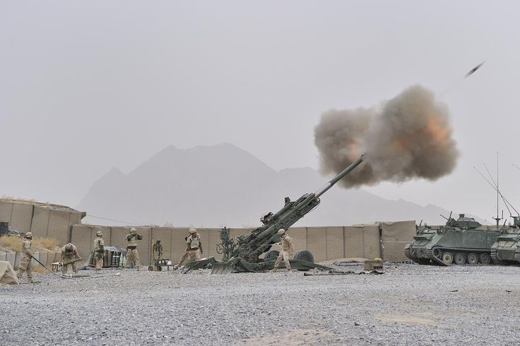 Canadian M777 Howitzer in Afghanistan.