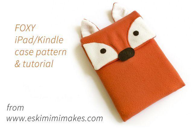 DIY: fox Kindle or iPad sleeve
