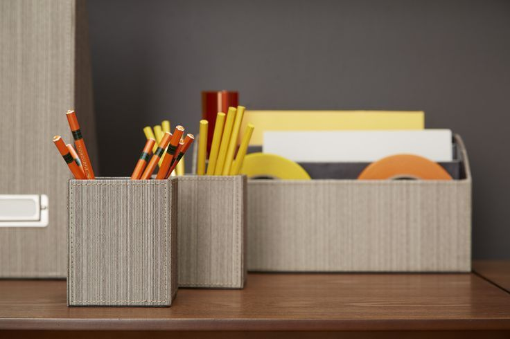 Add our Parker Pencil Cup and Letter Sorter to your desktop - along with other pieces from our Parker Desktop Collection - to stay organized in style.