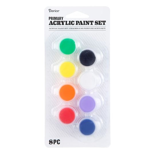 Darice Primary Acrylic Paint Set 6 Pack Michaels