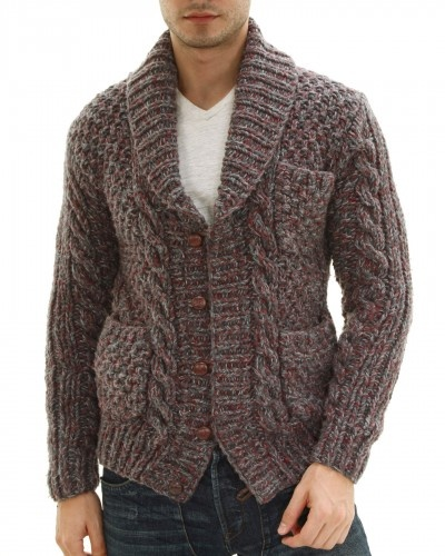 Hand Knit Cable Weber Cardigan by Onassis Clothing