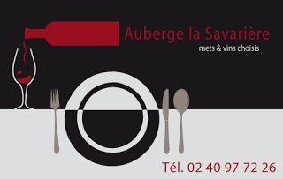 Auberge de la Savarière, carte de visite - Label communication