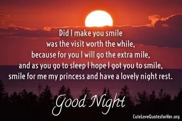 Romantic Good Night Poems For Her