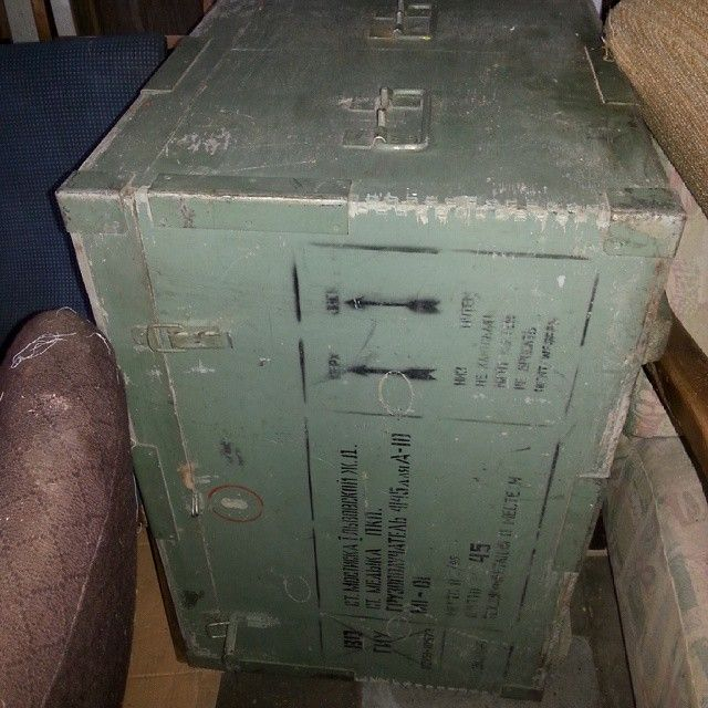 Big military box , crate from USSR #vintage #interiors #industrial #design #loft #retro #vintageshop #sklepvintage #poznan #crate #box #skrzynia #ussr #cccp #zsrr