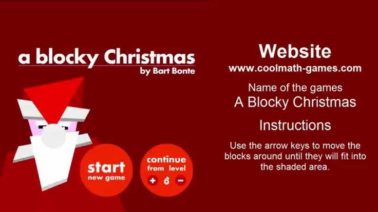 A Blocky Christmas - cool math games | Free online games