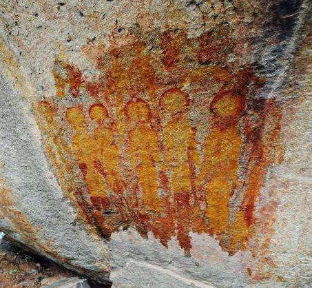 10,000 Year Old Rock Paintings Depicting Aliens and UFOs Found in Chhattisgarh