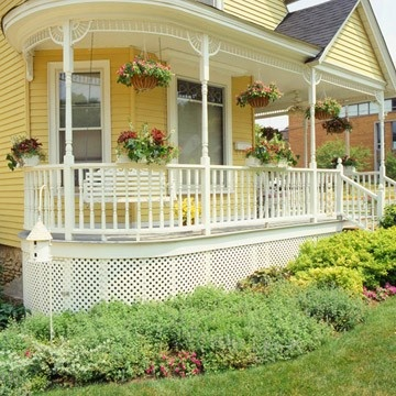 Victorian Front Porch Victorian Front Porch Victorian Front Porch:OMG I want this so bad!! Trying to find ideas for my front porch, Thanks Dude, for the inspiration at your house with the flowers