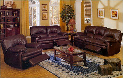 Brown And Peach Furniture Living Room Interior Design Dark Brown Leather Match Living Room Set
