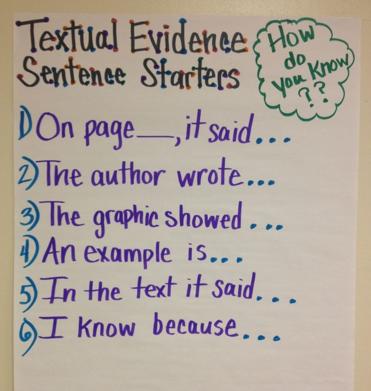 What a great textual evidence anchor chart!  Perfect for Common Core!