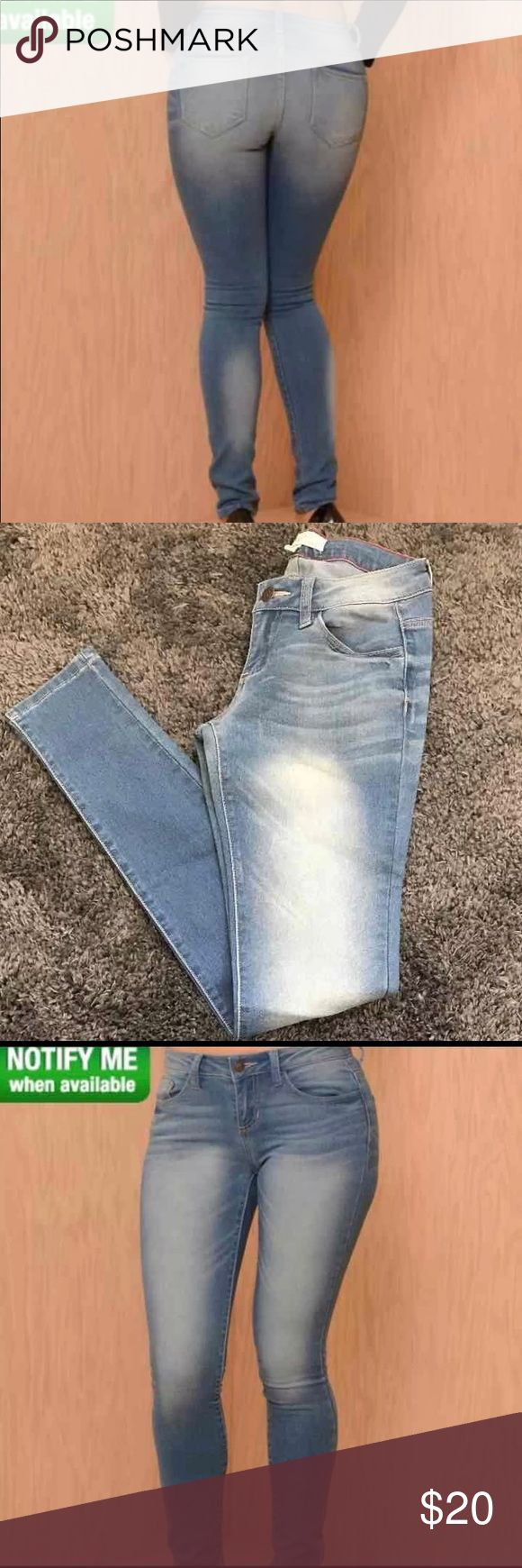 """Fashion Nova """"East Coast Jeans"""" style size 3 These are sold out at Fashion Nova (google name for more images or search on their website)  They are brand new with tags,great condition, never worn I e gain weight so didn't get a chance to wear them! Fashion Nova Jeans Skinny"""