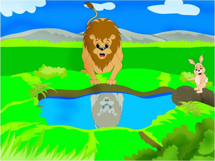 """Here is an illustrated short story """"The Clever Rabbit and the Foolish Lion."""" Short stories with pictures and morals to discuss are popular with young children and their parents."""