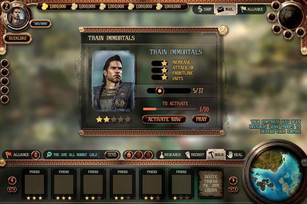Greek Mythology Game UI Mockups (unannounced title) by Paul Rand Pierce, via Behance