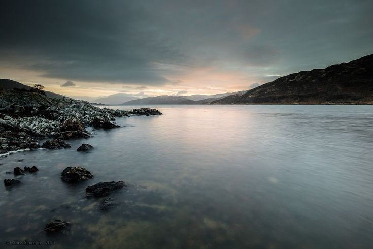 Loch Sunart Pale Dawning by Chris Simmons Photography
