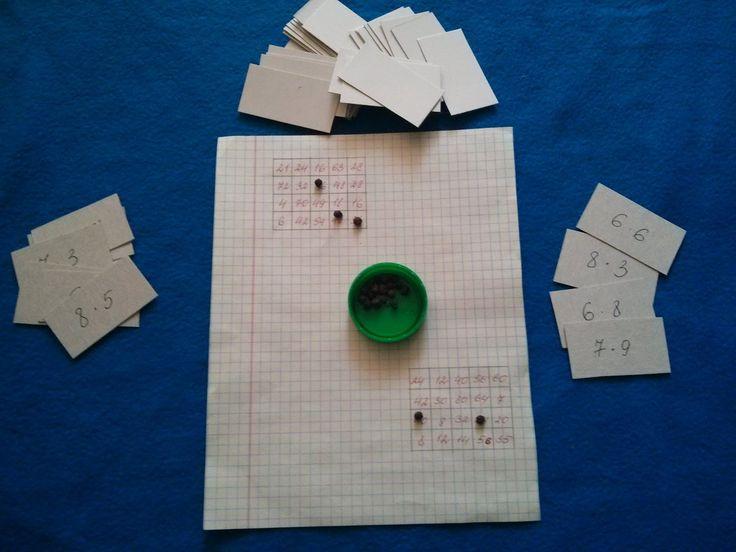 МОЯ ПЕСОЧНИЦА: Домашняя школа. Наши игры для закрепления таблицы умножения