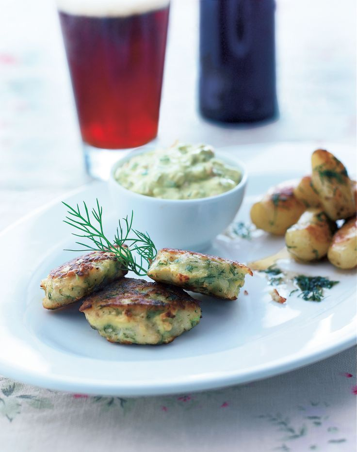 Fishcakes with herb remoulade and dill potatoes recipe from The Scandinavian Cookbook by Trine Hahnemann | Cooked