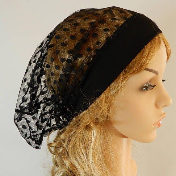 Black summer womens hat Black tulle hat Summer lace hat Sheer