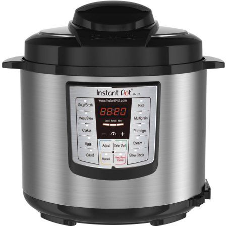 Instant Pot Lux V3 6-In-1 Multi-Functional Electric Pressure Cooker, Stainless Steel, Silver