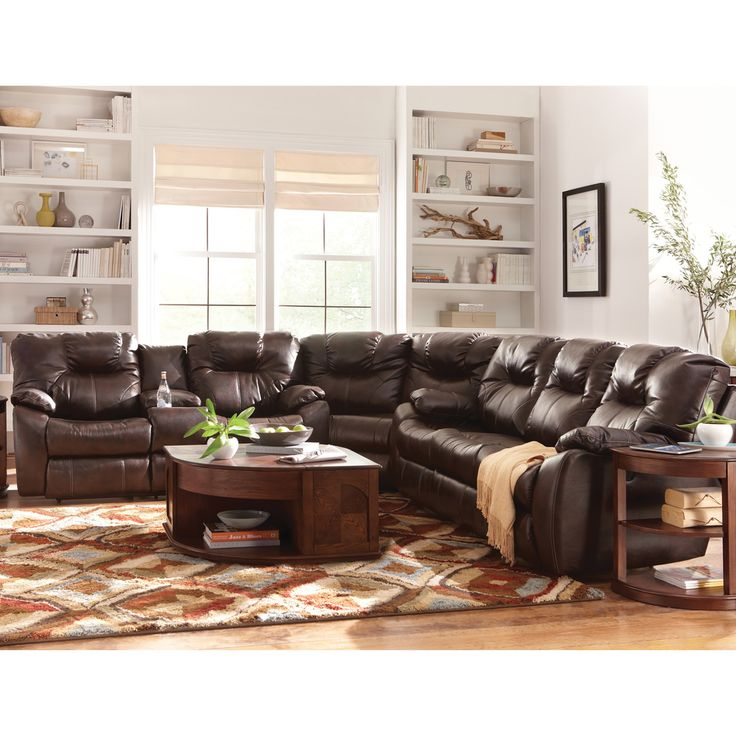 Art Van 3 Piece Power Sectional - Overstock™ Shopping - Big Discounts on  Art Van. Leather SofaSectional SofasLiving Room ... - 14 Best Images About Family Room On Pinterest Shopping