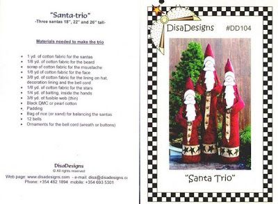 Muñecos navideños con moldes para imprimir ~ cositasconmesh