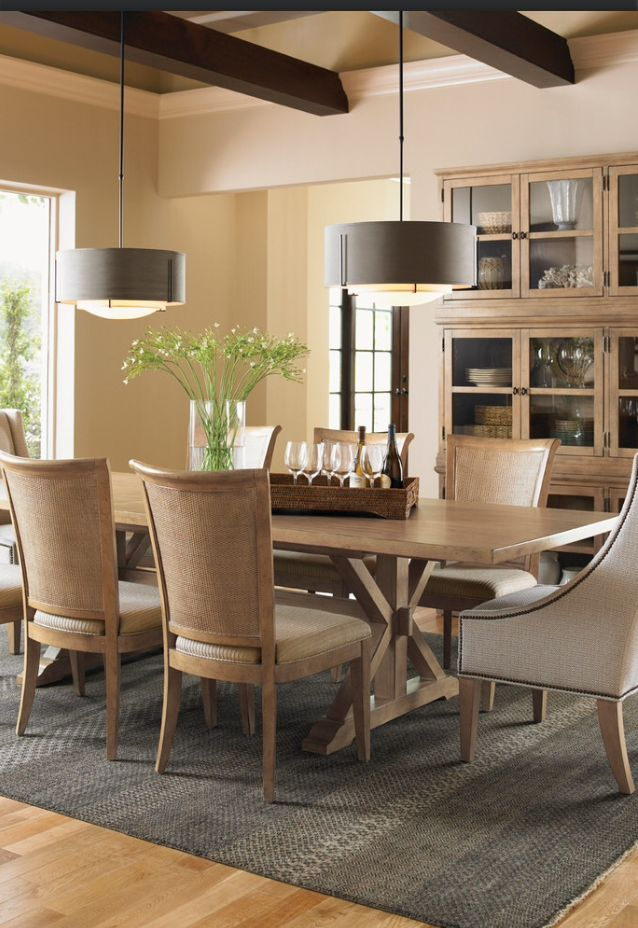 Love everything - table chairs rugs lights