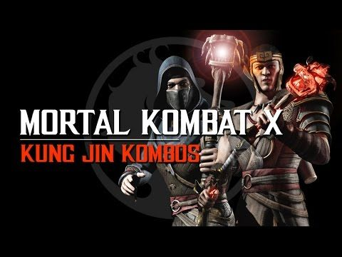 Mortal Kombat X: Kung Jin Kombos with button inputs in all variations