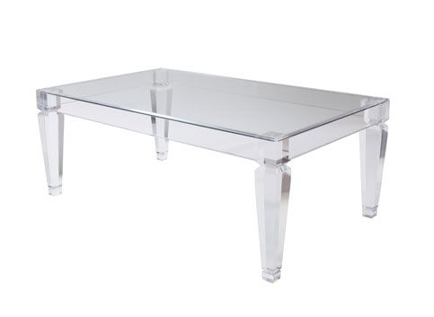 Eugenie Coffee Table By Marjorie Skouras United States Clear Acrylic Coffee  Table With Glass Top Custom Sizes Available List Price: Contact Showroom  Lead ...