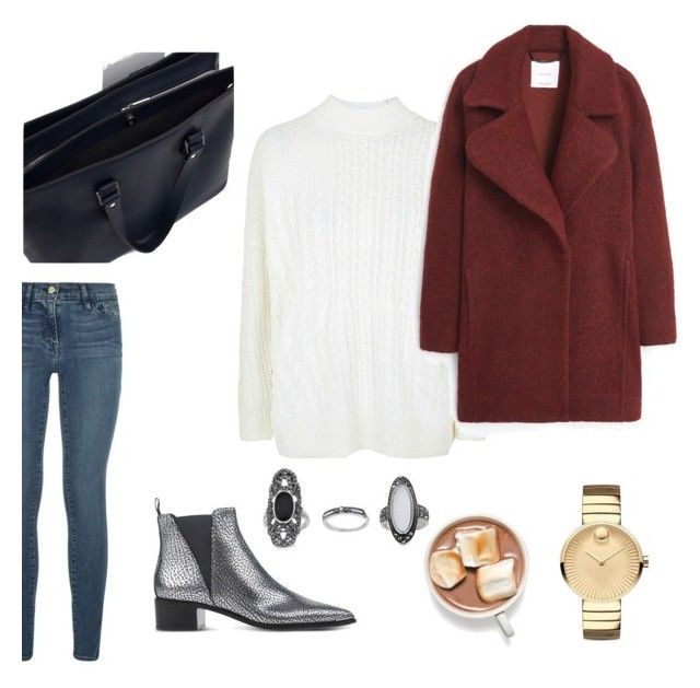 by betti-nyilas on Polyvore featuring polyvore, fashion, style, Topshop, MANGO, Frame Denim, Acne Studios, Zara and Movado