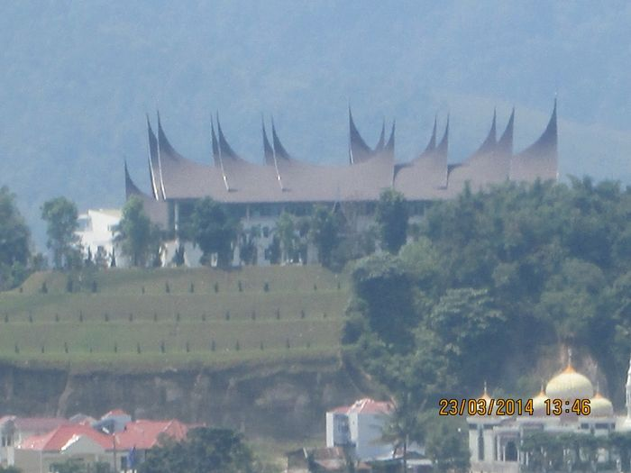 the traditional house of west sumatera, indonesia