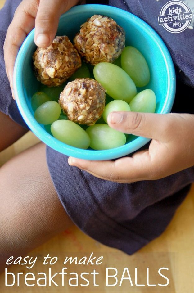 No-Bake Breakfast Balls | 21 Back-To-School Breakfast Recipes That Kids Will Love