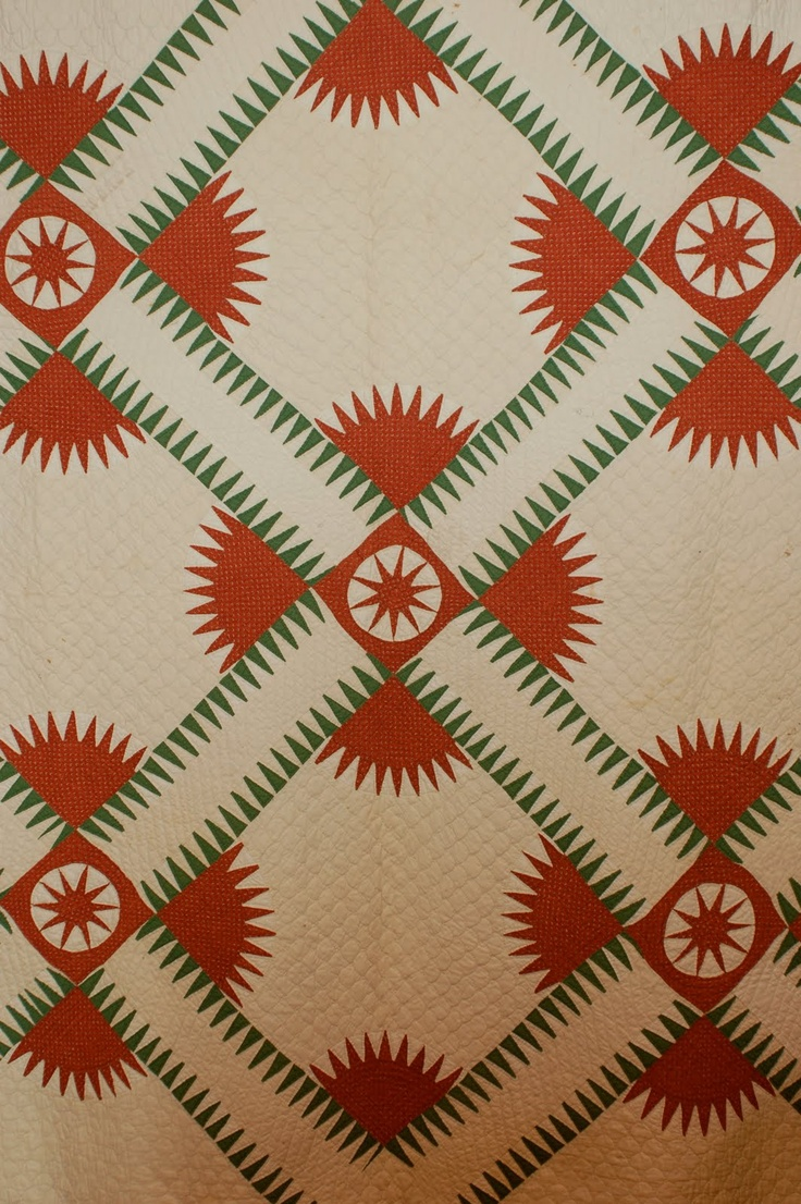 AQS Quilt News: Sneak Peak at Knoxville's Special Quilt Exhibits; Antique New York Beauty quilt from the Nathanael Greene Museum