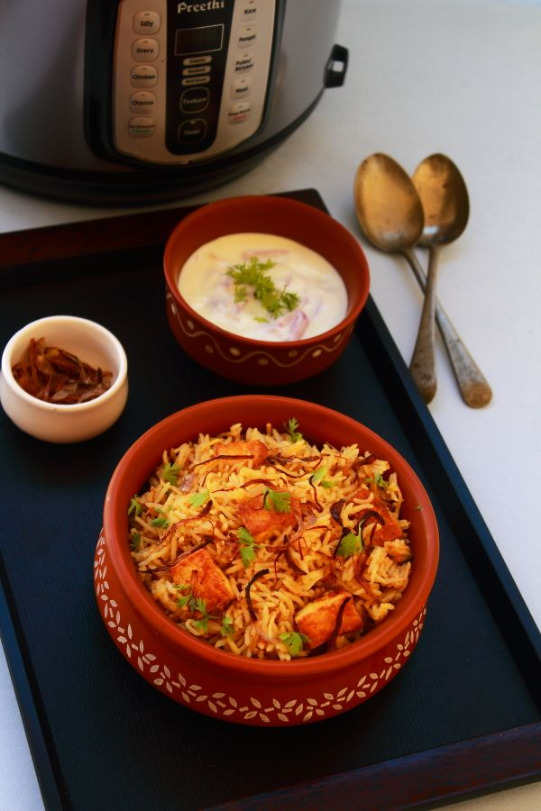 paneer biryani in preethi electric pressure cooker – Pressure cookers and mixer grinders have become the basic necessities in an Indian kitchen.  Most of us have two or three pressure cookers of varying capacities which we use in our day to day cooking.  And they are a handy, time-saving gadget which makes out life easier. I...Read More »