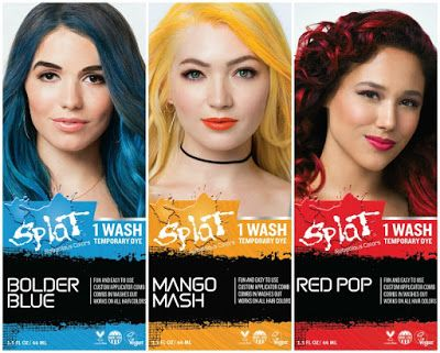 The Makeup Examiner: Splat Hair Color Launches 1 Wash
