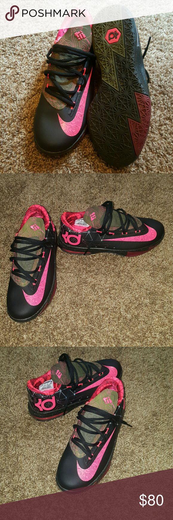 Kd 6 meteorology NWOT Cute kd 6 army green, pink, and black. Nike Shoes Sneakers