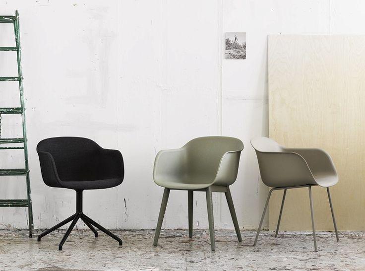 Fiber Chair Wood Base Skórzane - KODY Wnętrza