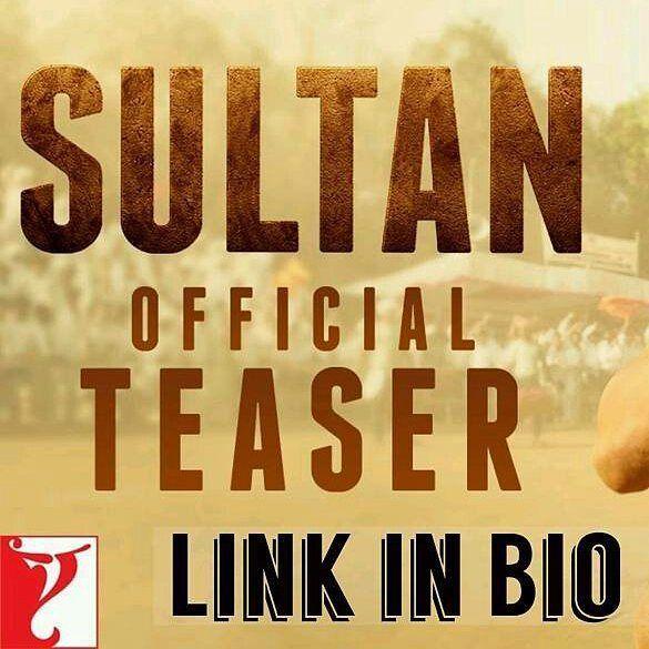 @instantbollywood -  Link in Bio  @InstantBollywood Watch the official teaser trailer of Sultan Movie. Click the link in our profile @InstantBollywood  . . #instabollywood #bollywood #india #indian #desi #bollywoodactress #mumbai #bollywoodfashion #sultan #bajrangibhaijaan #salmankhan #sonamkapoor #anushkasharma #sultanteaser #sultantrailer #sultanmovie #salman #bhaijaan #delhi #noida #gurgaon #chandigarh #hyderabad #surat #pune #bangalore #kolkata #chennai #cochin @BOLLYWOODREPORT  . For…