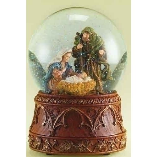 Musical Holy Family Glitterdome