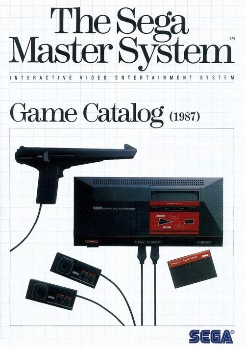 Sega Master System game catalog (1987).