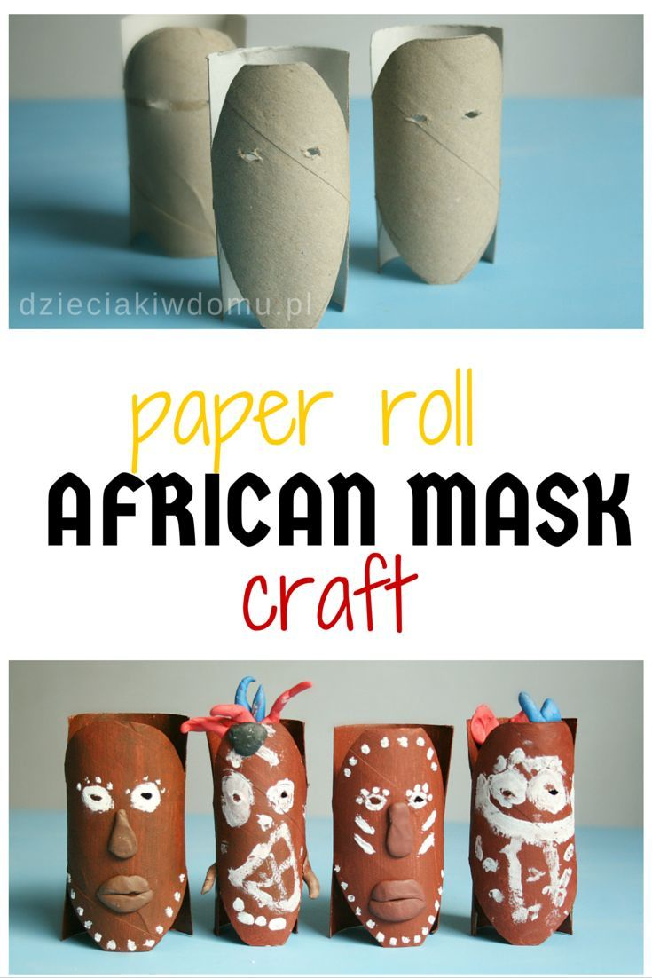 african mask craft idea for kids. Great for Tiki masks too.                                                                                                                                                                                 More